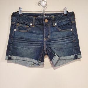American Eagle denim shorts size 8